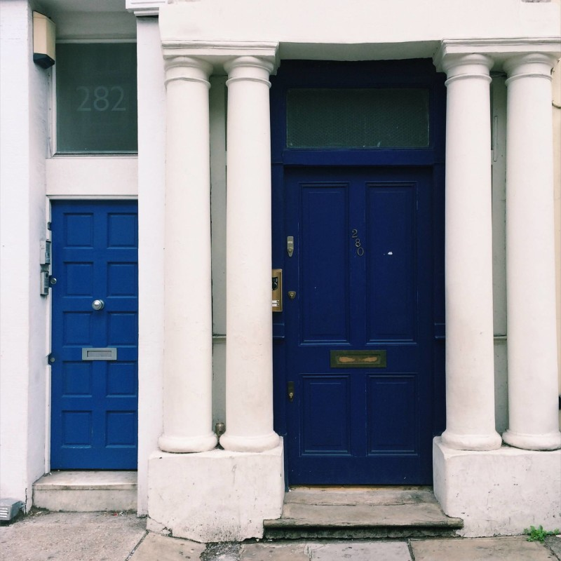 Blue door from Notting Hill Movie - Westbourne Park Rd