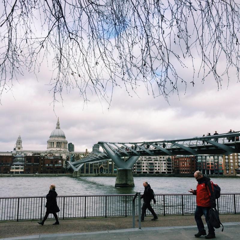 Millennium Bridge - near Tate Modern
