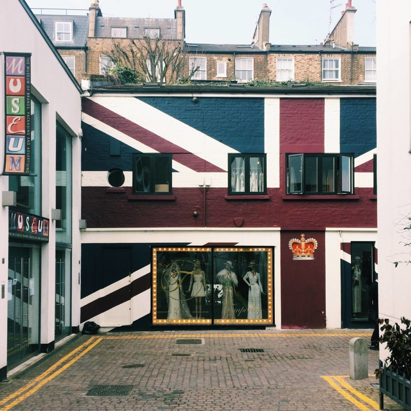 Union Jack Wall - Colville Mews, Notting Hill