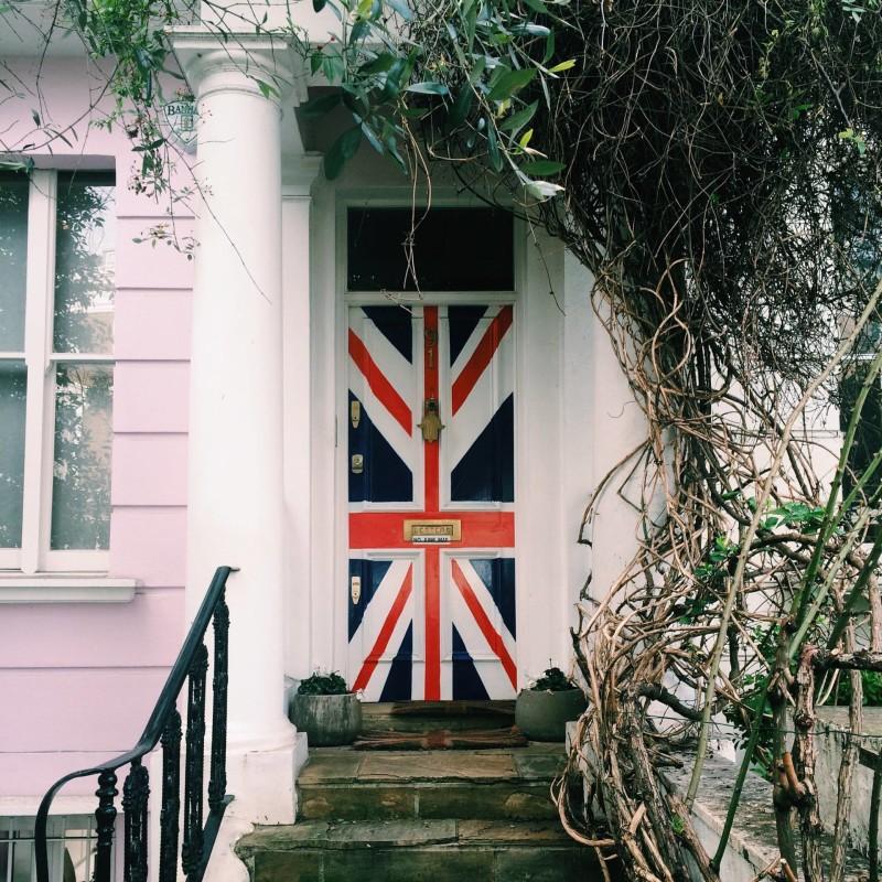 Union Jack door - Ledbury Road, Notting Hill