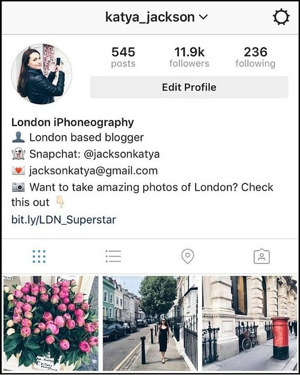 katya jackson london instagram tips