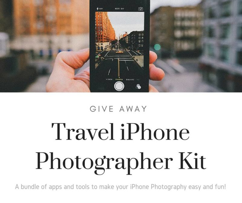 Travel iPhone Photographer Kit Give Away