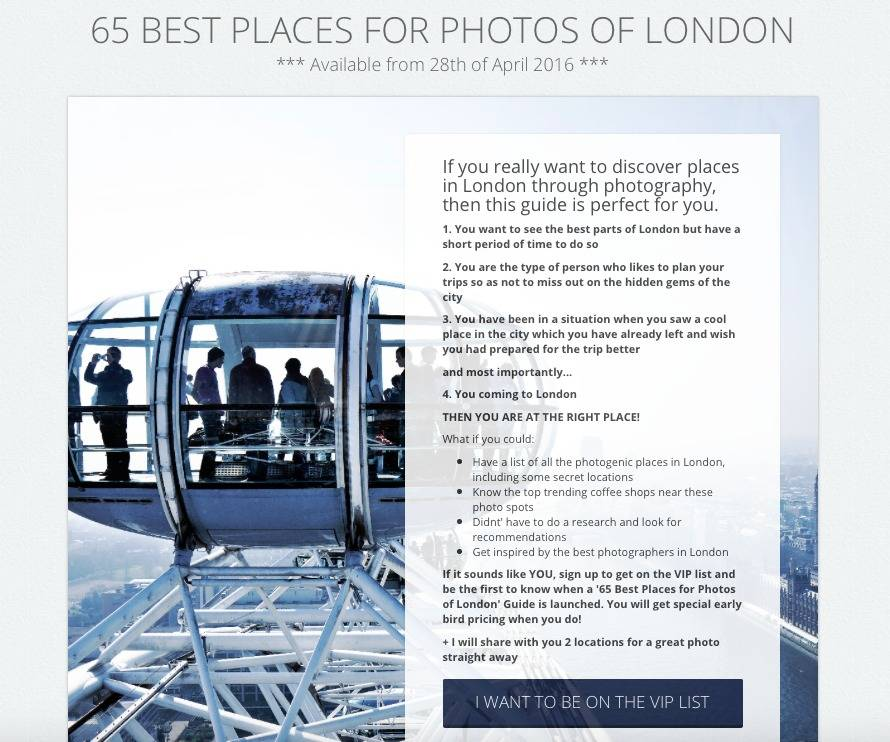 London Photo Guide Landing Page