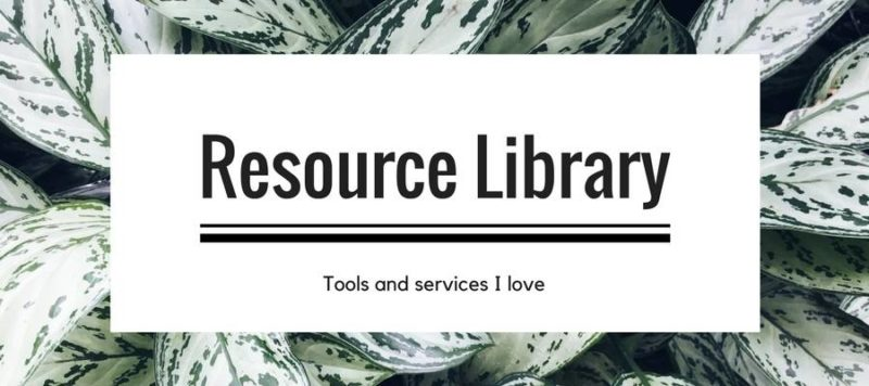 resource library for bloggers and instagrammers